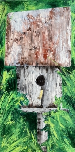 <p><strong>Jessica Petree Armstrong</strong></p> <p><em>Home</em></p><p><small>Acrylic with palette knife on canvas</small></p><p><small>Pond Gap Elementary</small></p><p><small>West View Elementary</small></p>
