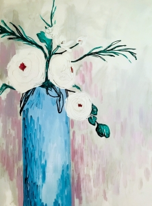 <p><strong>Allison Comer</strong></p><p><em>Counce Vase In July</em></p><p><small>Acrylic on canvas</small></p><p><small>Christenberry Elementary</small></p>