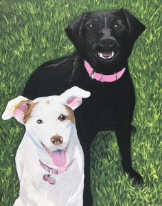 <p><strong>Molly Currin</strong></p><p><em>Dogs in Grass</em></p><p><small>Acrylic</small></p><p><small>Farragut Primary</small></p>