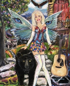 <p><strong>Jackie Spaulding Wright</strong></p><p><em>Fairy Dollymother</em></p><p><small>Mixed media</small></p><p><small>Carter Elementary</small></p>