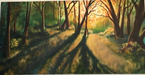 <p><strong>Emily Huch</strong></p><p><em>Evening Sun</em></p><p><small>Oil on canvas</small></p><p><small>Karns Middle School</small></p>