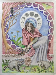 <p><strong>Sara Wieland</strong></p><p><em>Saint Juniper</em></p><p><small>Colored pencil on paper</small></p><p><small>Adrian Burnett Elementary</small></p>